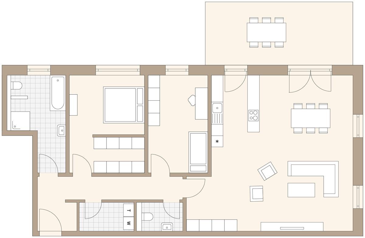 Badezimmer 2 qm klafs planning ideas apartment in for Badezimmer 7 qm